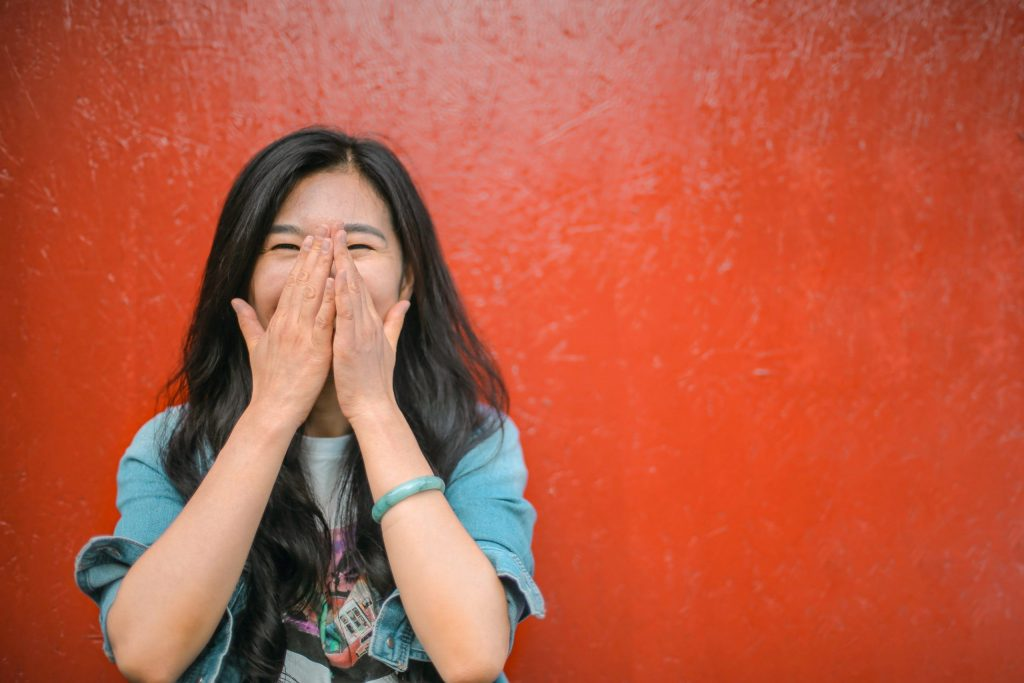 chinese woman laughing