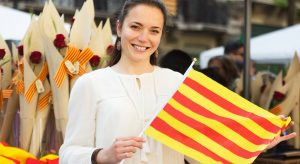 Woman with Catalan Flag
