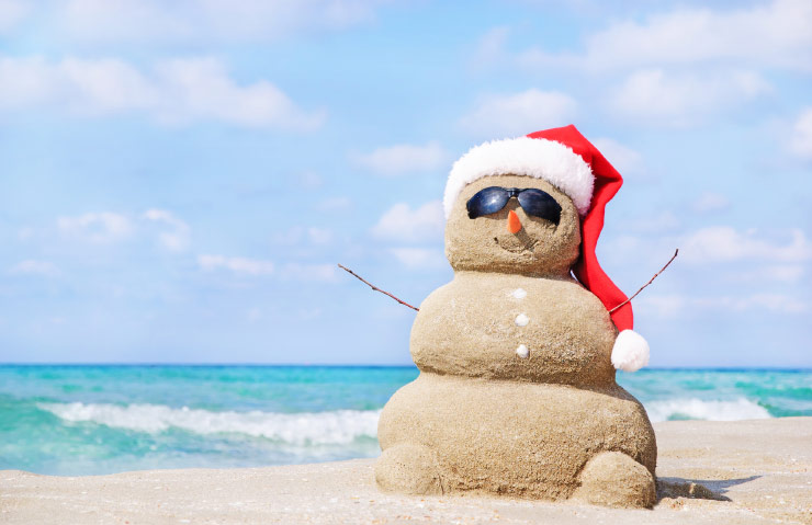 Christmas in Australia takes place in the searing heat of summer.