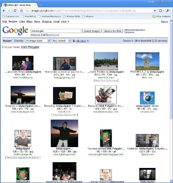 searching for the image of a term