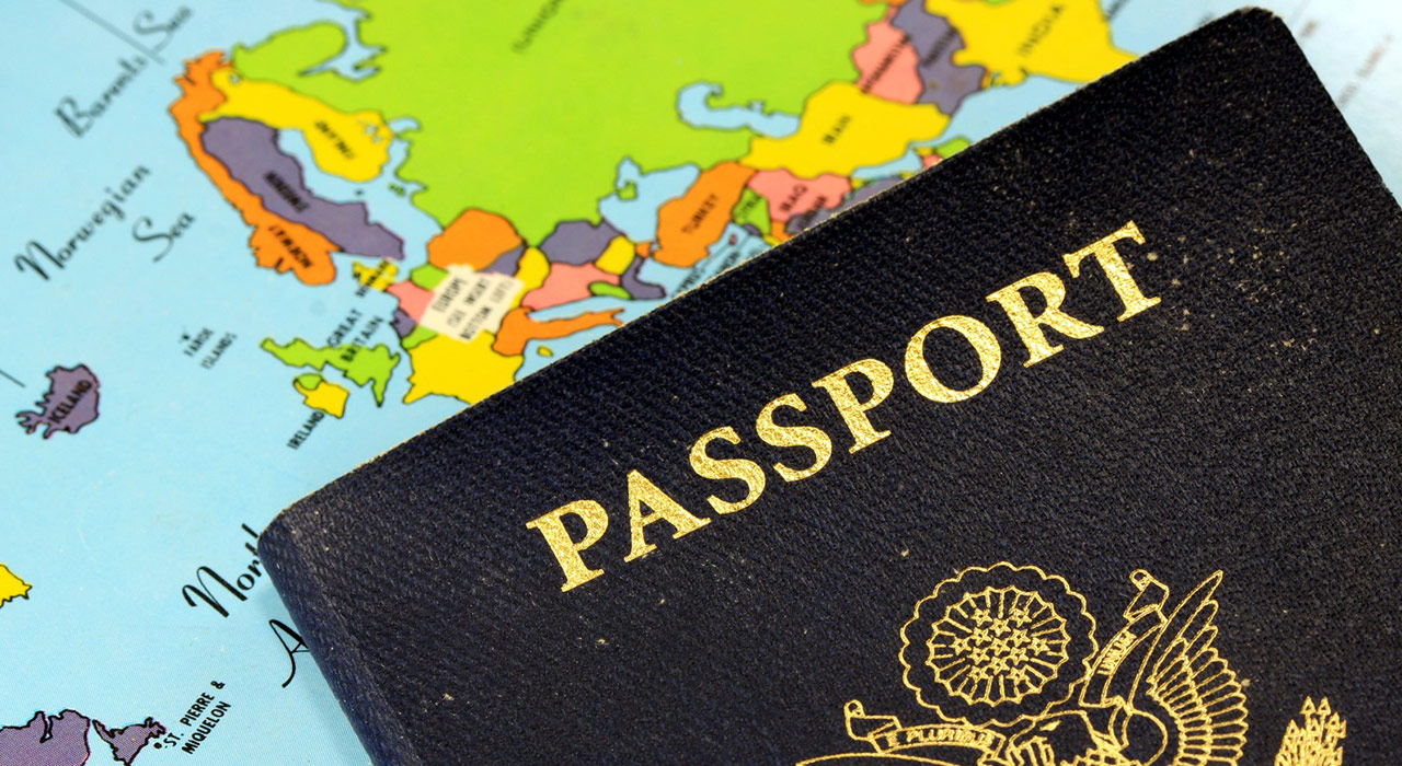 United States Travel Passport With Map of Europe