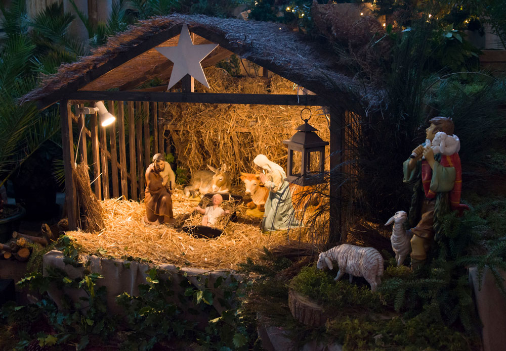 Merry French Christmas traditions include a representation of the nativity scene