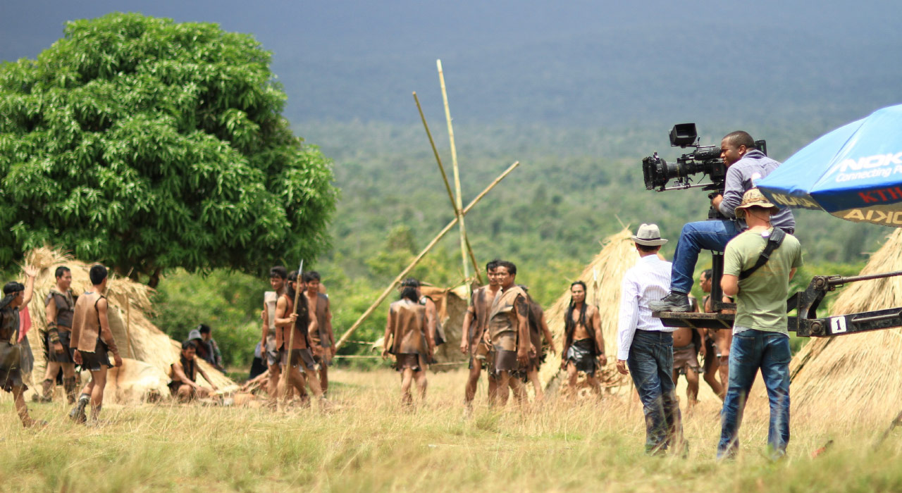 Movie shooting in an exotic place