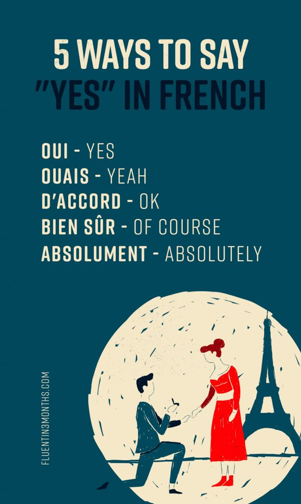 5 ways to say yes in French